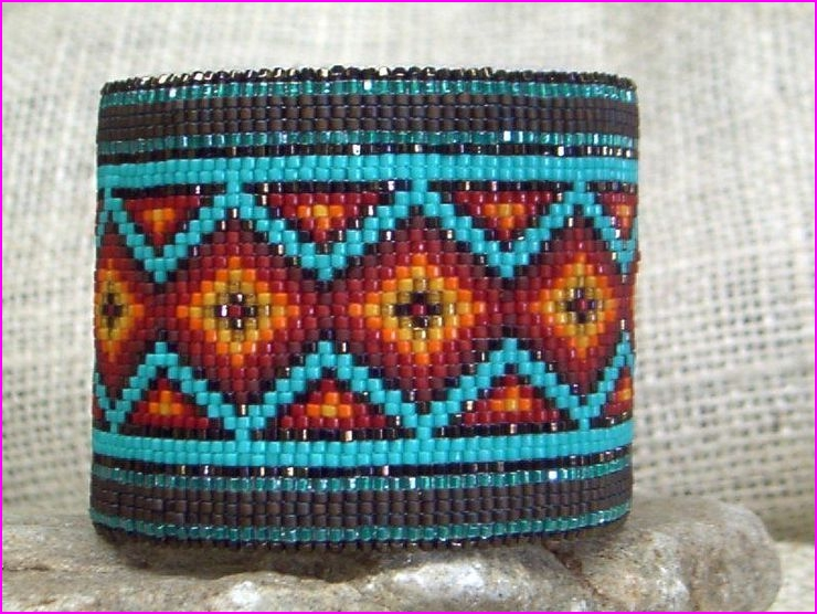 image relating to Free Printable Native American Beading Patterns called Indigenous American Bead Loom Bracelet Practices - Web page 2