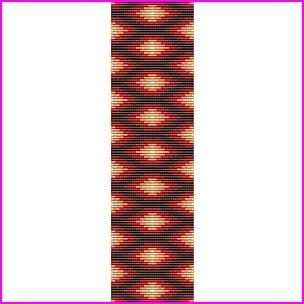 Native American Rug #8 Loom Cuff Bracelet Bead Pattern ...