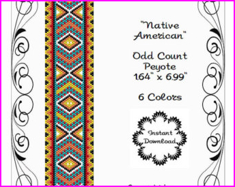 PEYOTE BRACELET PATTERN-Native American-Peyote Cuff | Etsy