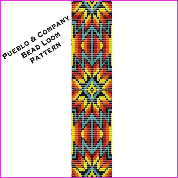 Native American Style Sunburst Bead Loom Pattern, Beaded ...