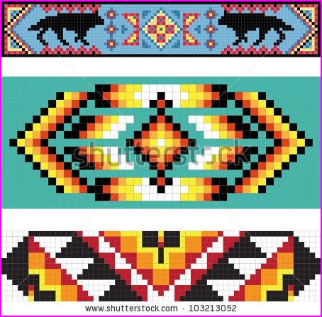 Pattern clipart american indian - Pencil and in color pattern ...