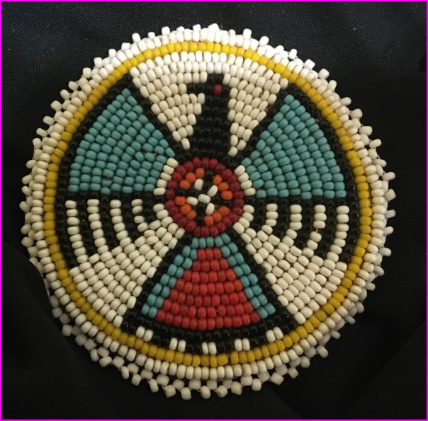 Native American Beaded Rosettes Researched and Conserved by Amanda ...