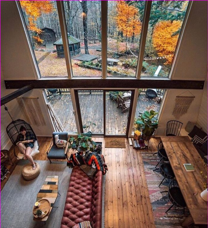 big windows for living room
