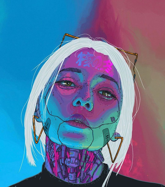 20 Fantastic Cyberpunk Character Concept Arts, Inspirations & Designs