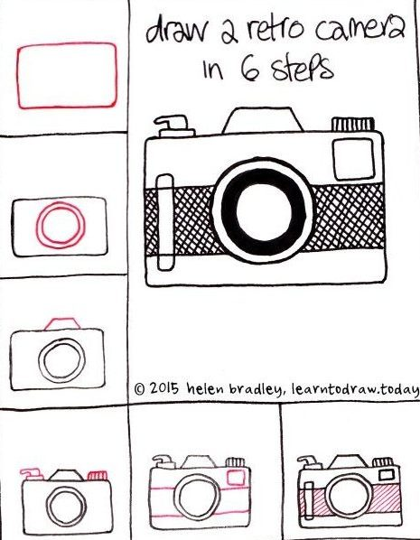 How to Draw a Retro Camera