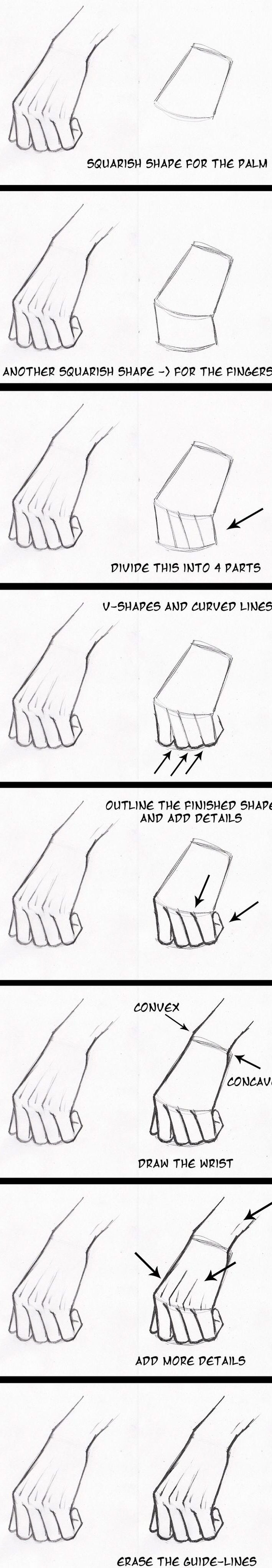 How to Draw Hands Step by Step