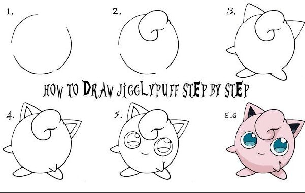 How to Draw Jigglypuff Step by Step Easy