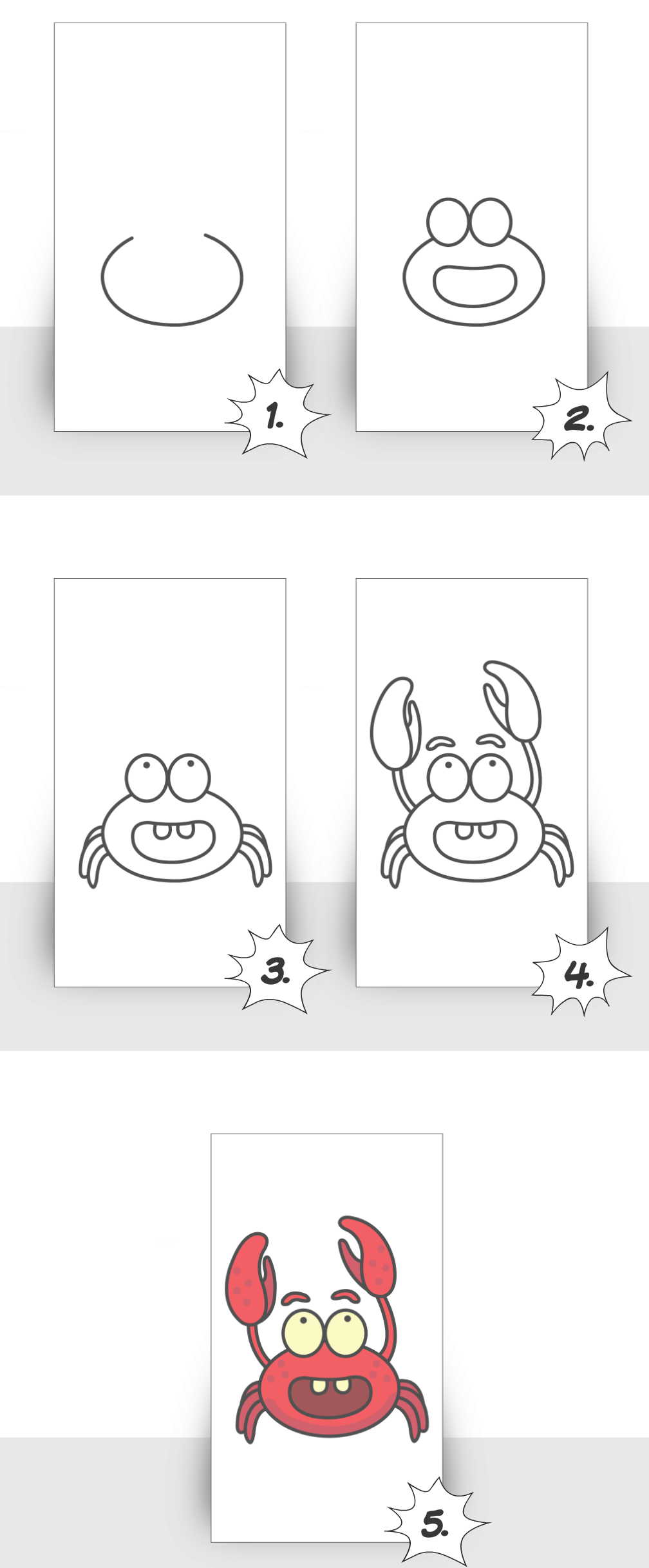 How to Draw a Crab Step by Step for Kids