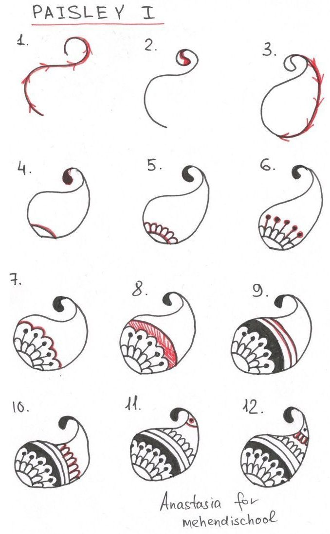 Paisley Drawing Patterns Step by Step
