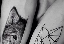 Small Wolf Tattoo Ideas for Females