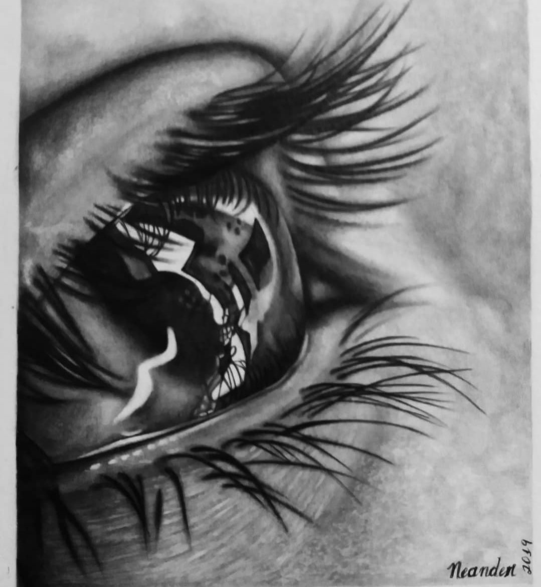 eyes with tears drawing easy