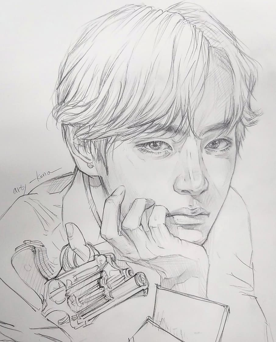 beginner bts drawings easy 2020