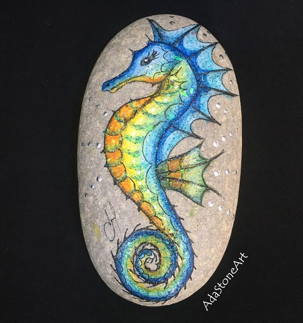 Colorful Seahorse Drawing 2020