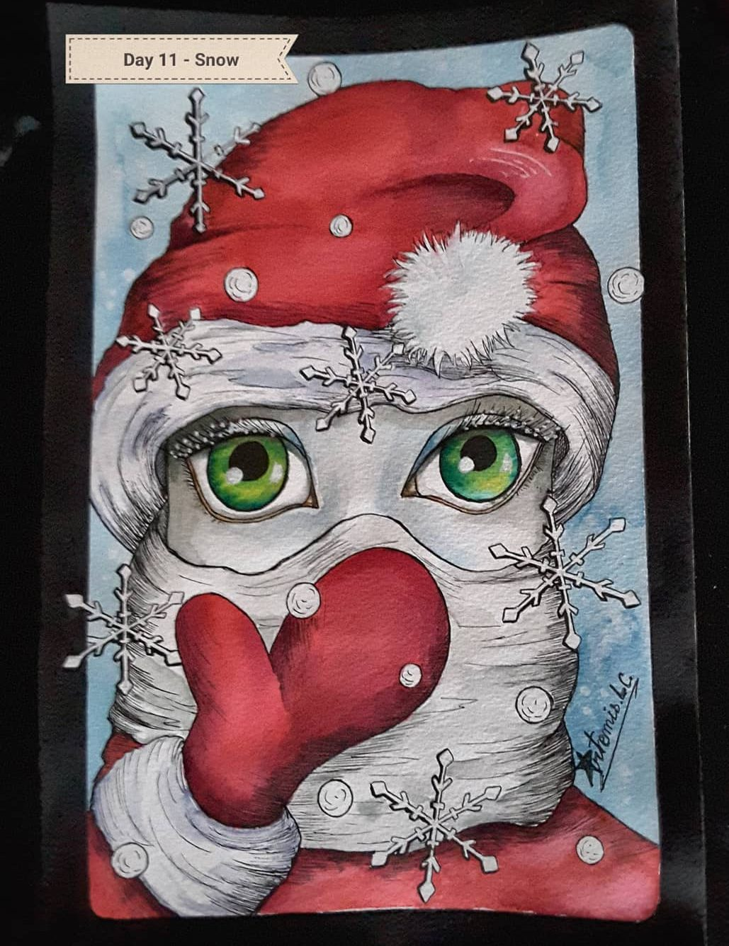 drawing of santa claus for christmas
