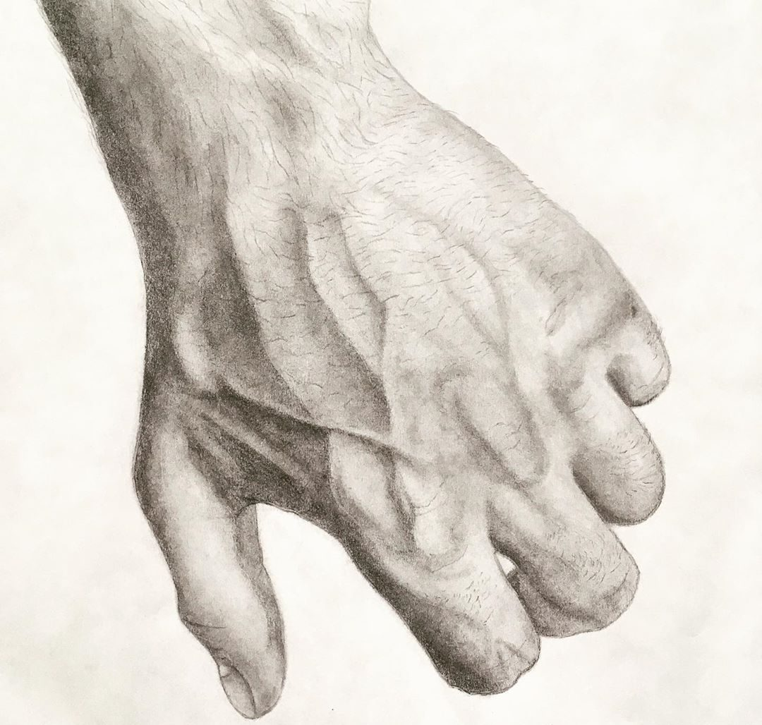 easy realistic hand drawings