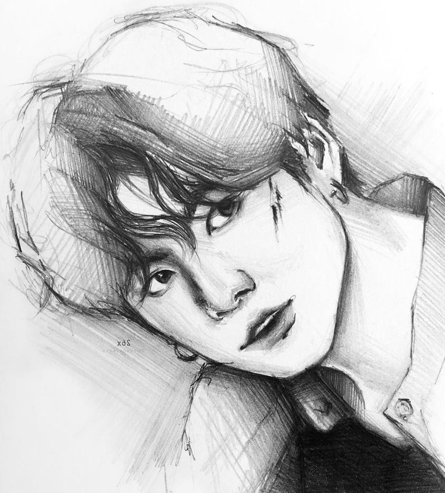 kpop fan art drawing