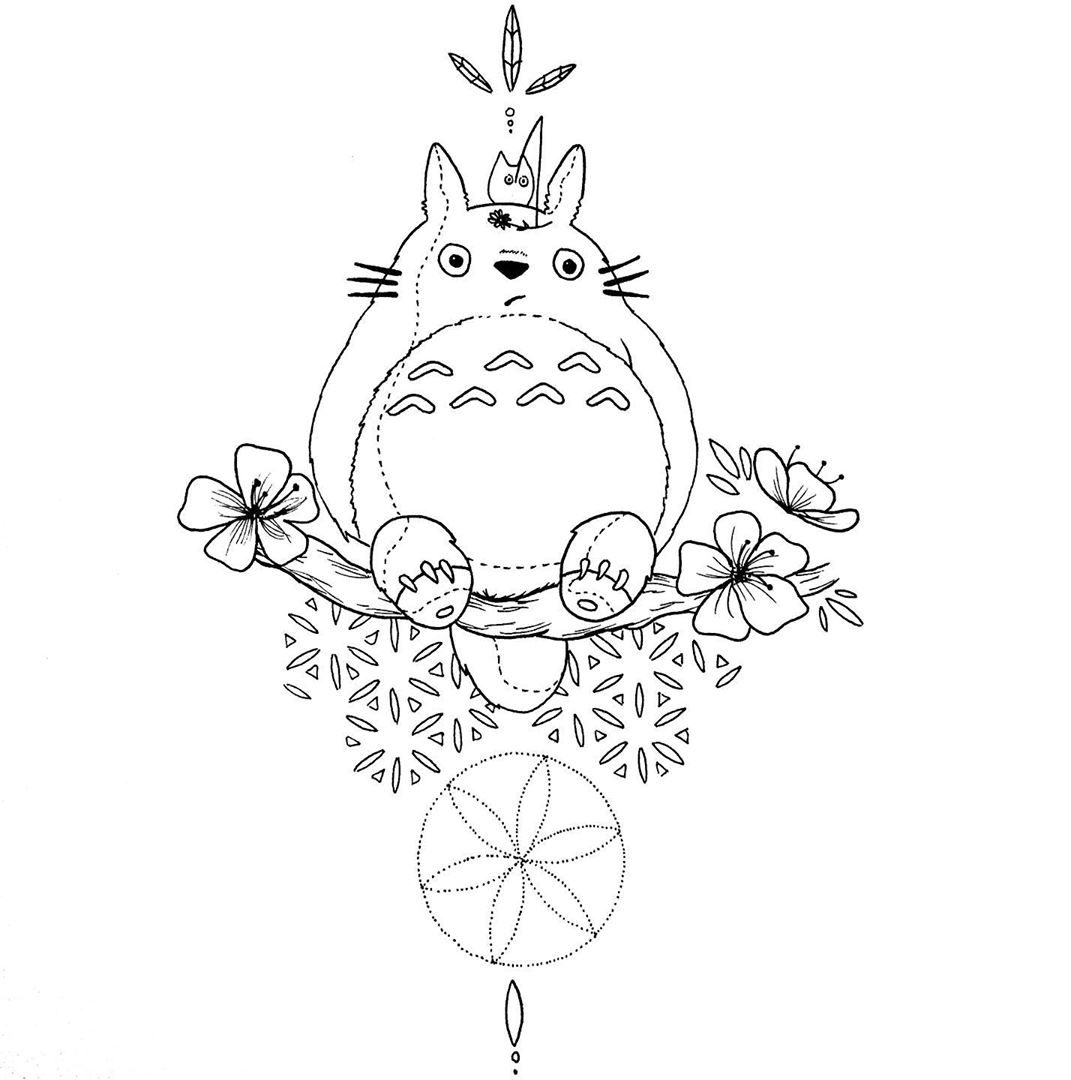 my neighbor totoro drawing