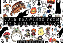 Easy Cat Bus Drawings from My Neighbor Totoro