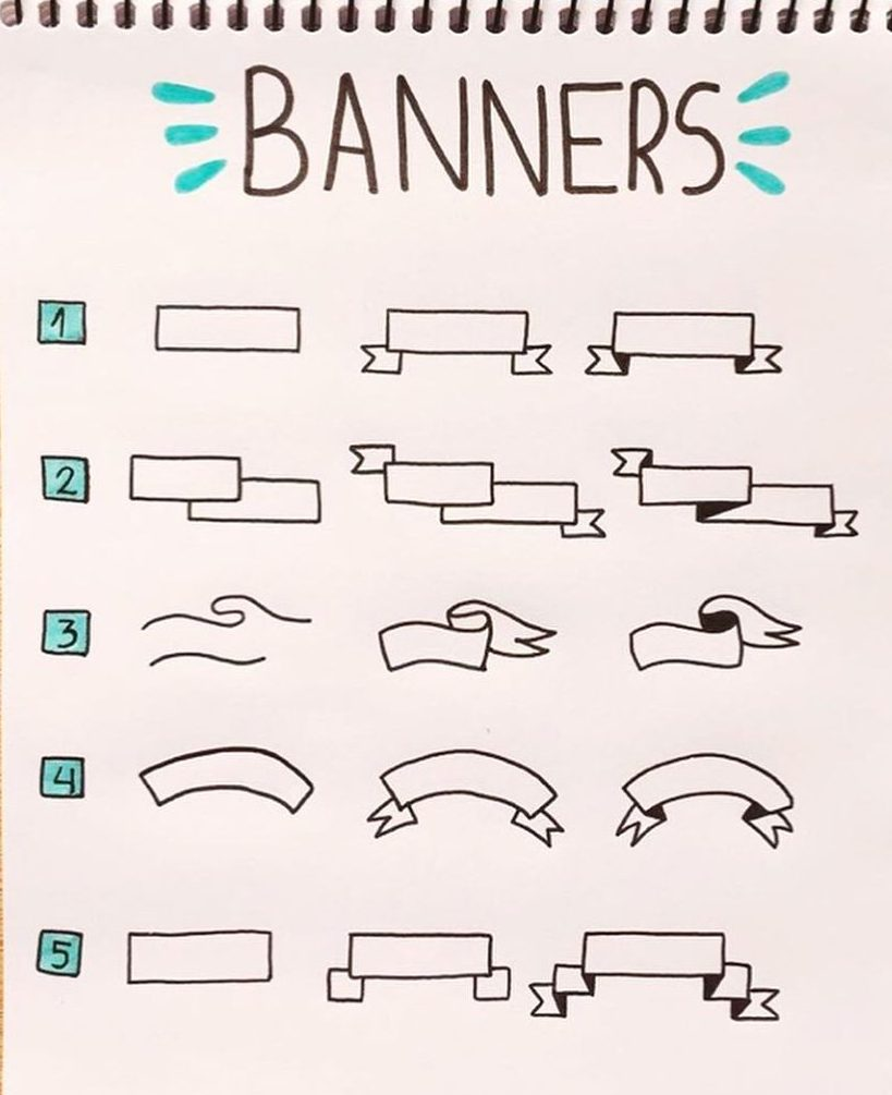 aesthetic bullet journal banners