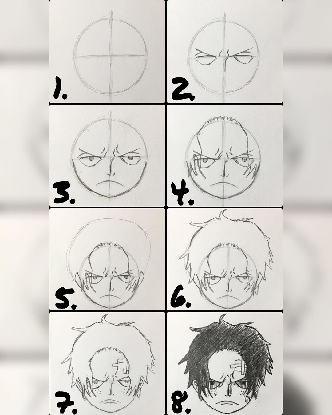 anime boy drawing easy step by step