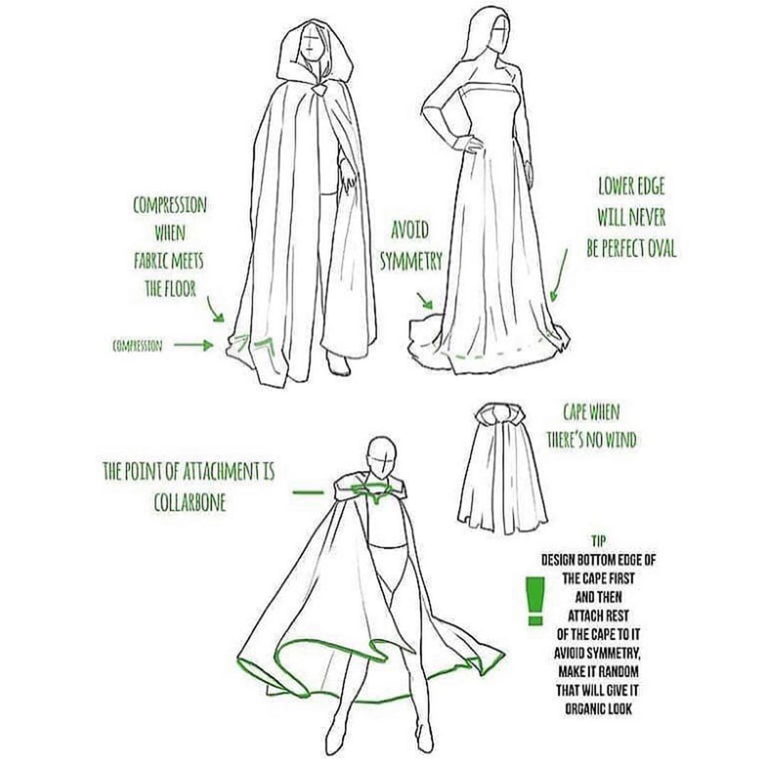 cloak hood drawing reference