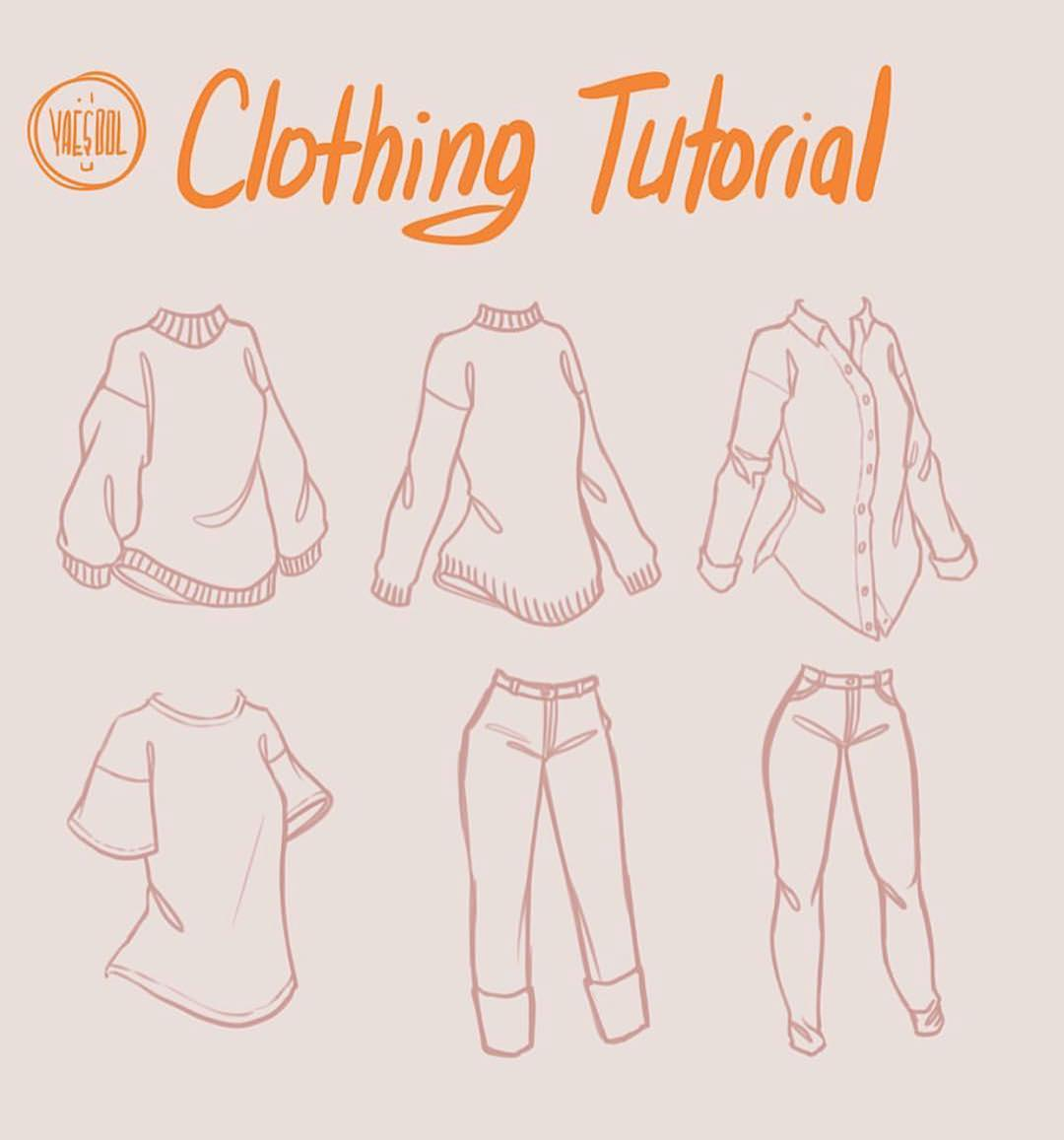 clothing drawing tutorial