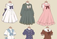 cute anime girl clothes drawings