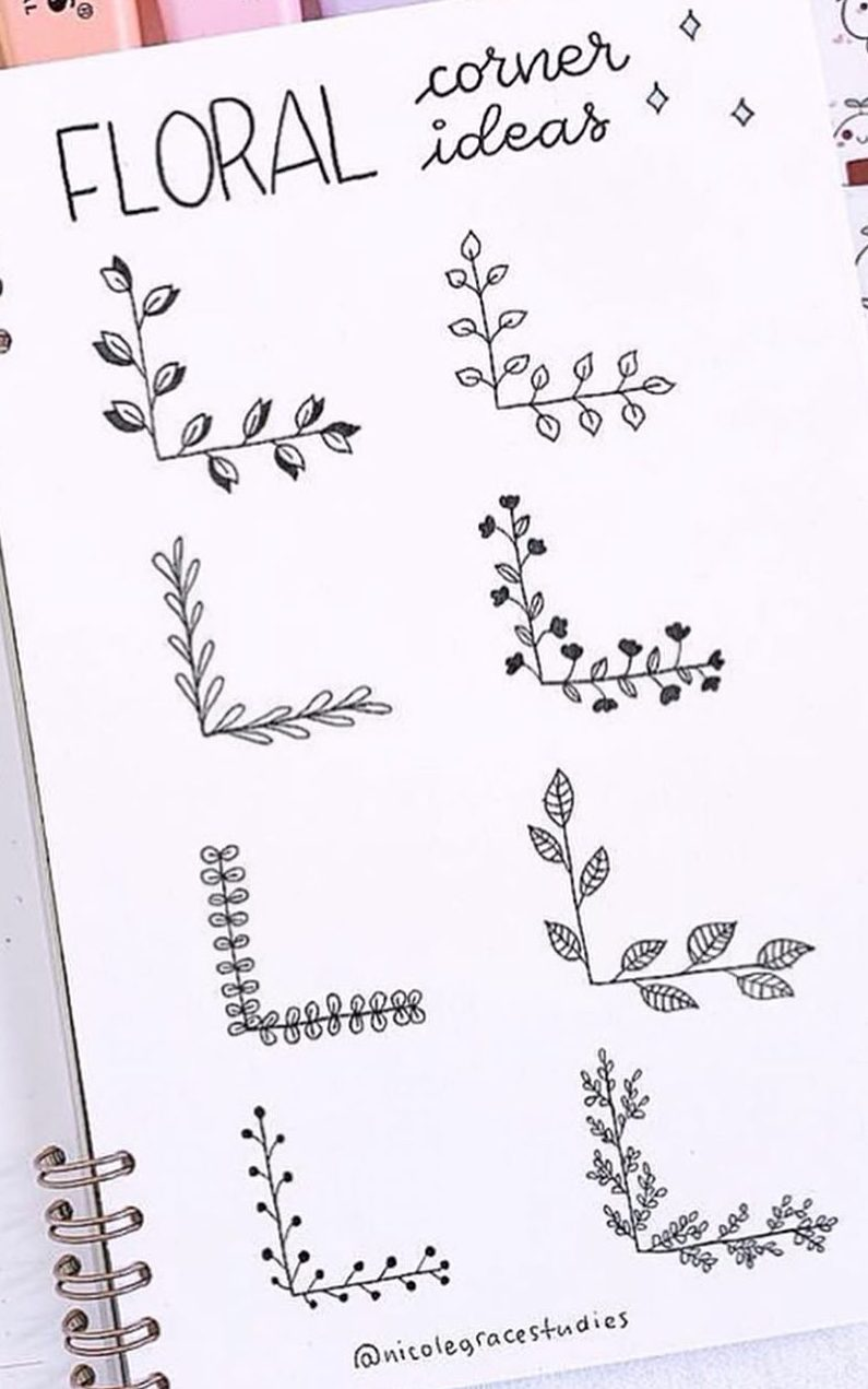 doodles bullet journal flowers