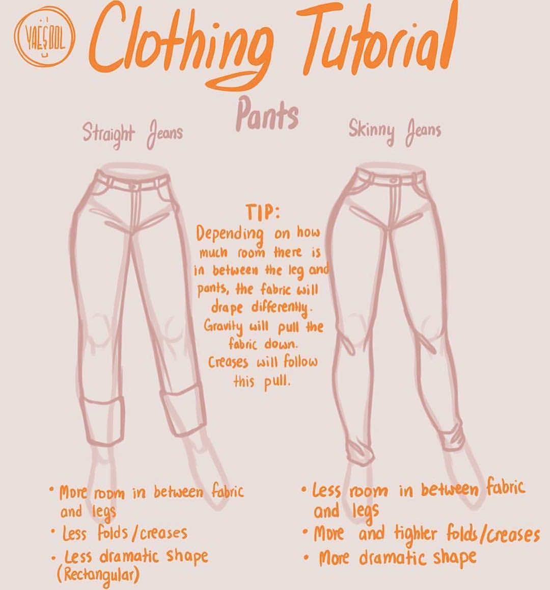 drawing pants tutorial