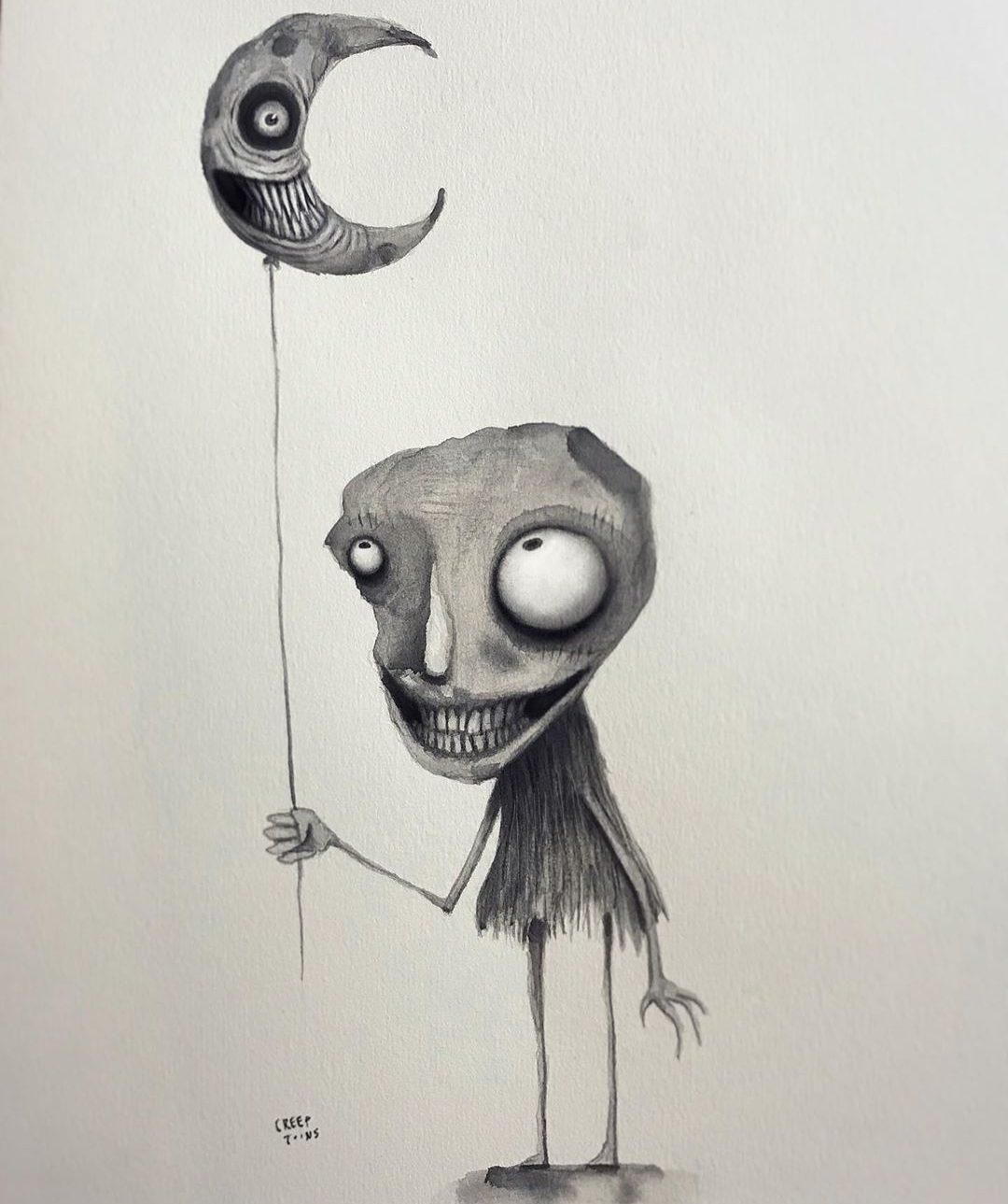 easy cartoon sketches with balloon