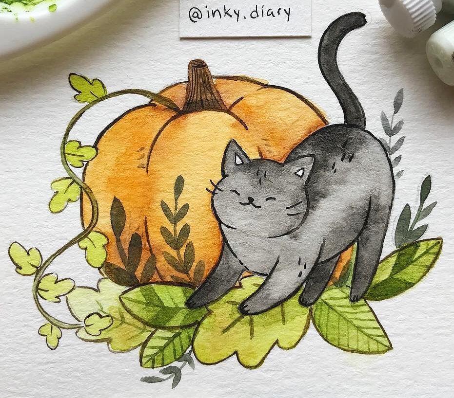 easy cat doodles