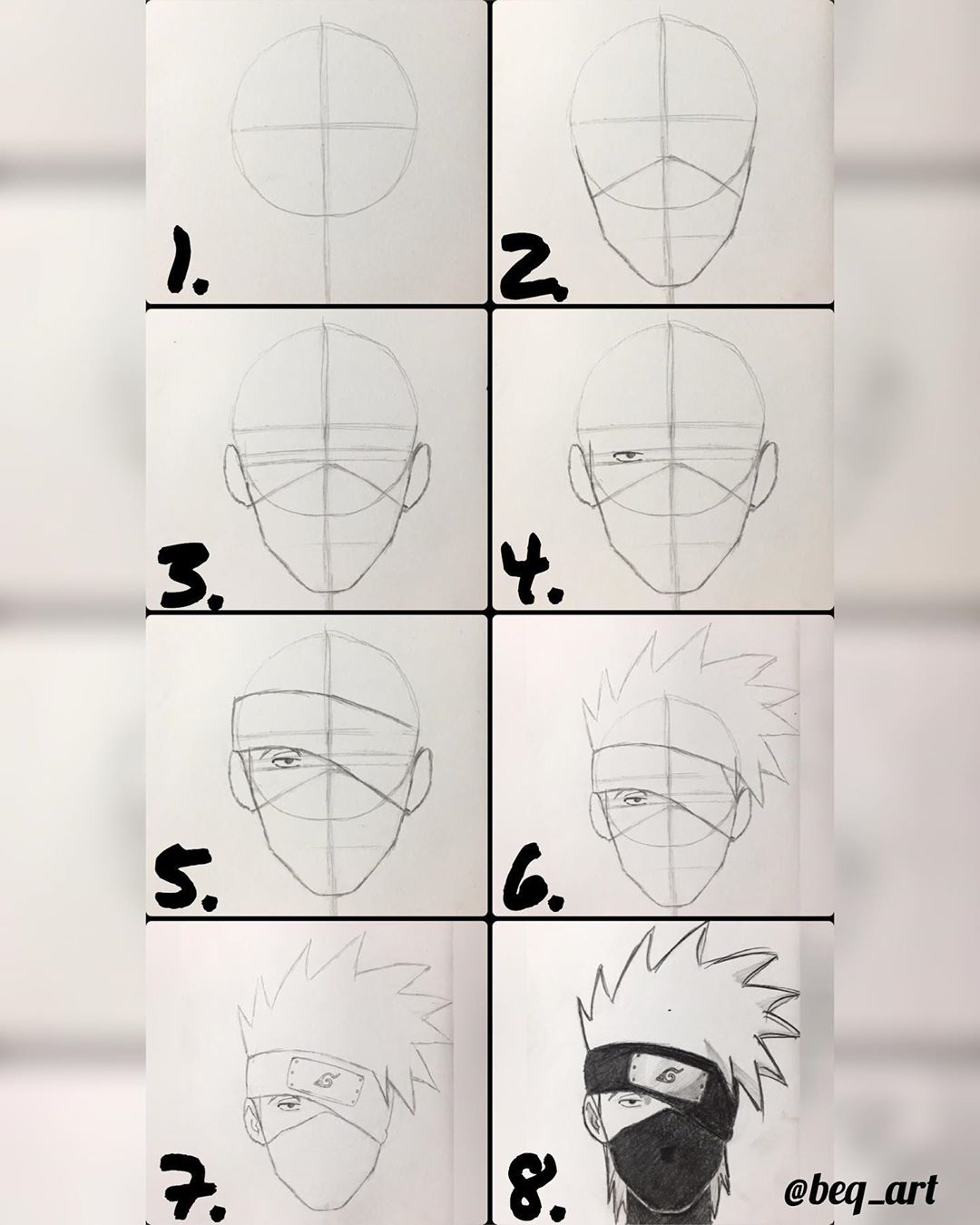 how to draw anime boy step by step