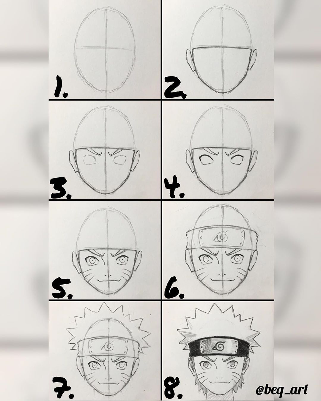 naruto drawings in pencil step by step for beginners