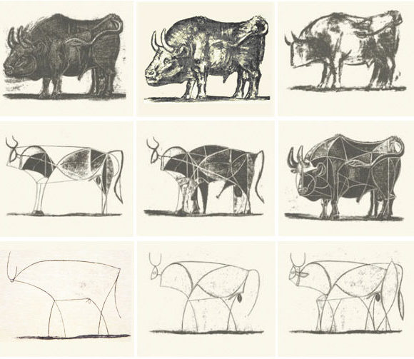 picasso line drawings bison