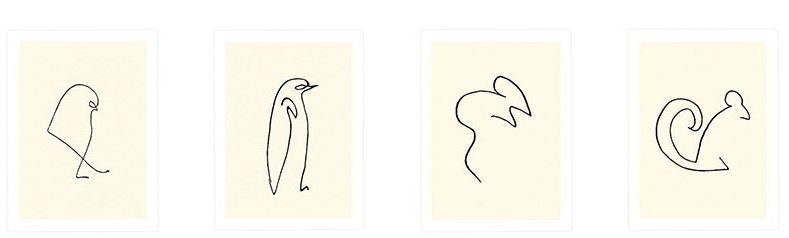 picasso line drawings penguin
