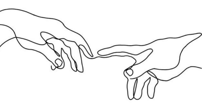 picasso line hand drawing