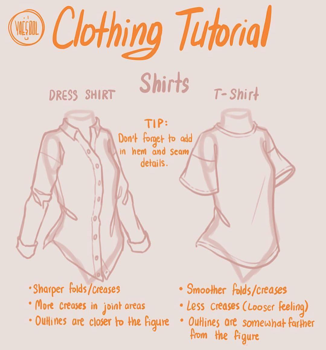shirt drawing tutorial