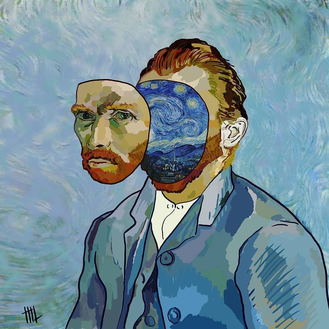 starry night van gogh character art