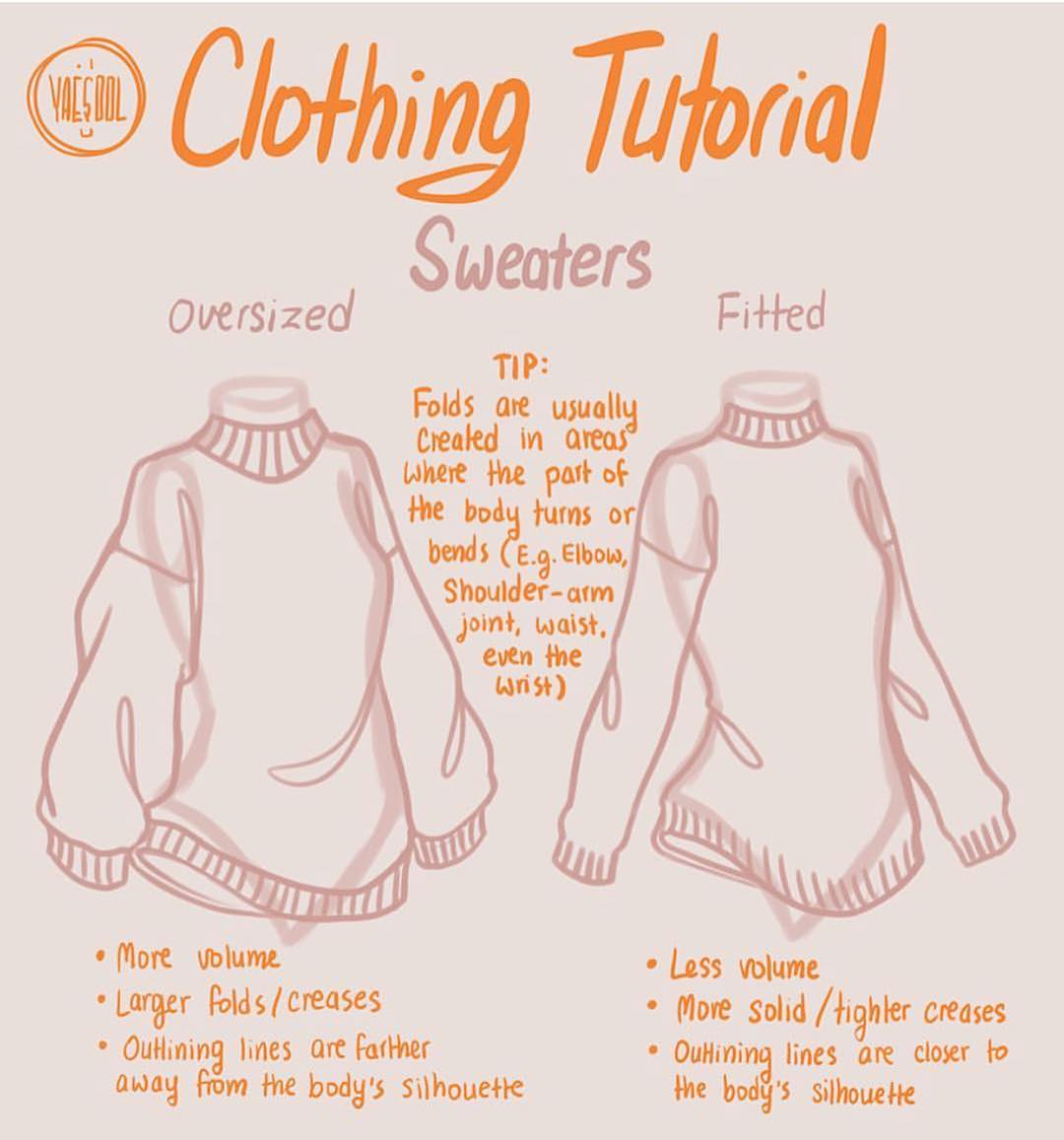 sweater drawing tutorial