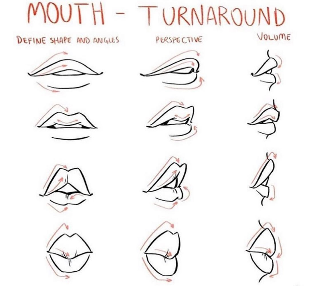 tutorial how to draw lips step by step