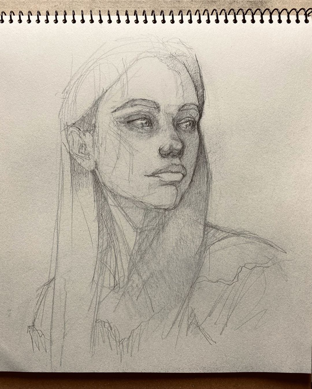 Beginner easy portrait drawing
