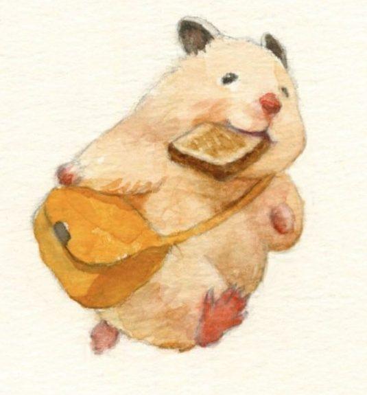 Cartoon cute hamsters