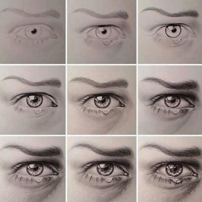 Crying eye draw