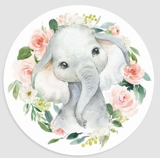 Cute elephant watercolor