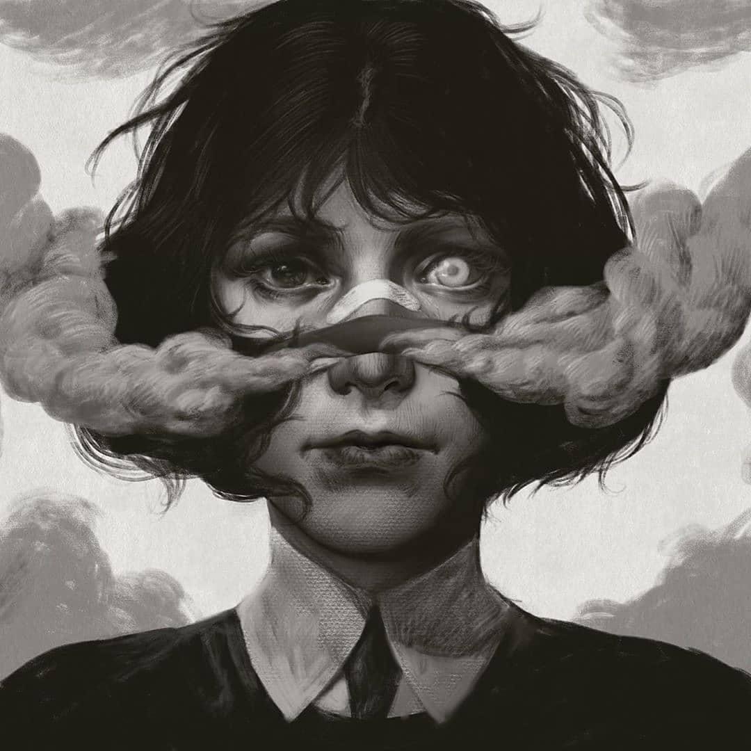 Depression dark surreal art