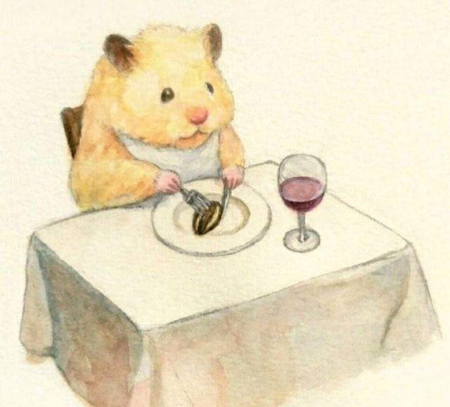 Easy dwarf hamster drawing