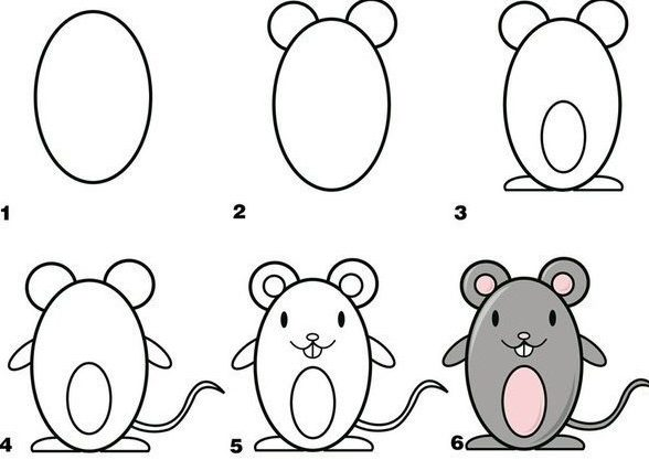 How to draw a mice easy