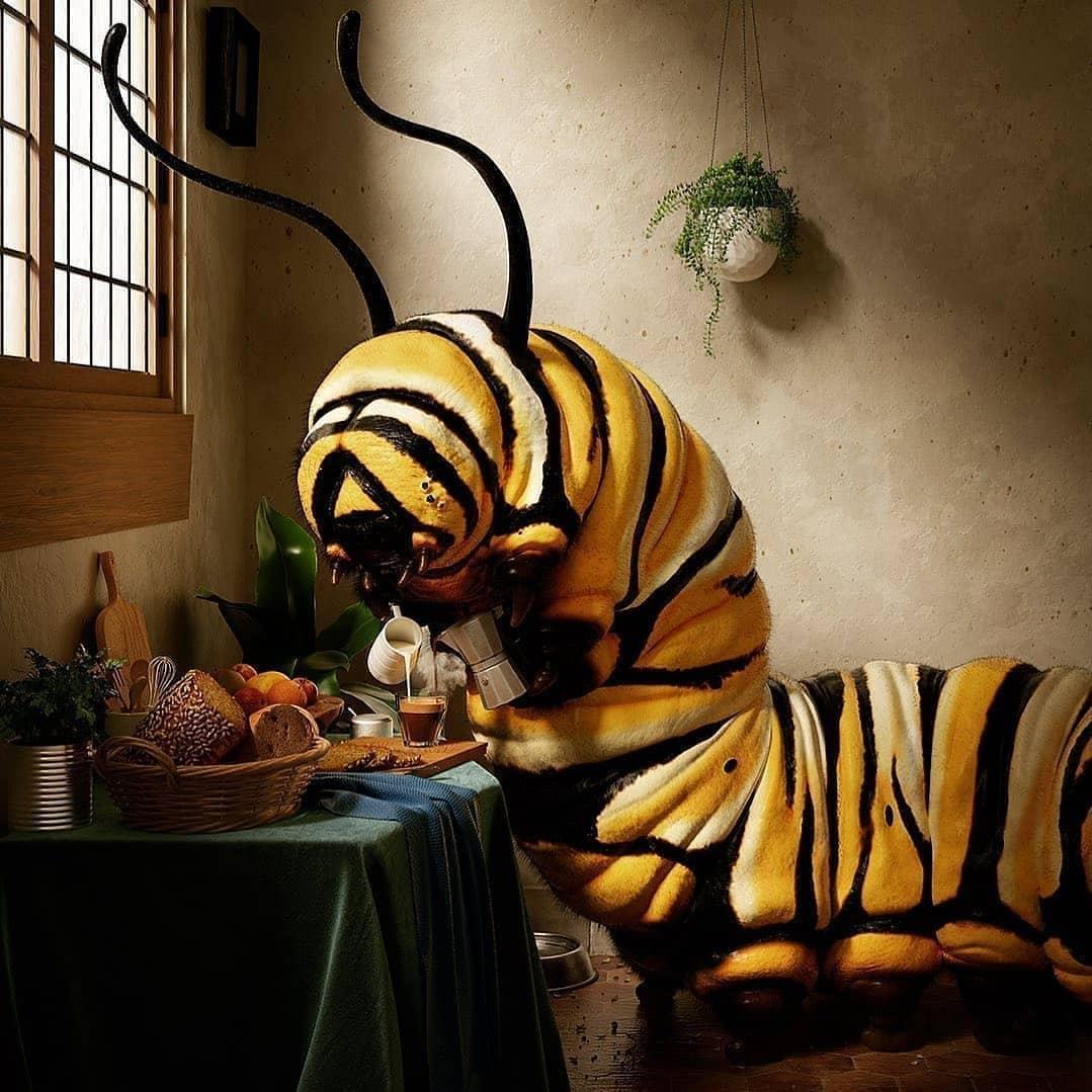 Modern pop surrealism art