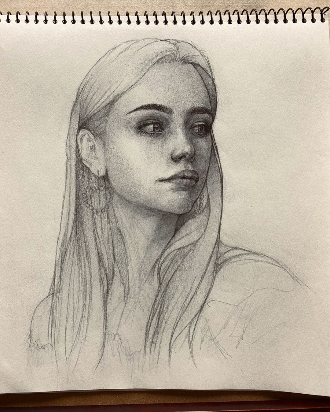 Pencil easy portrait drawing