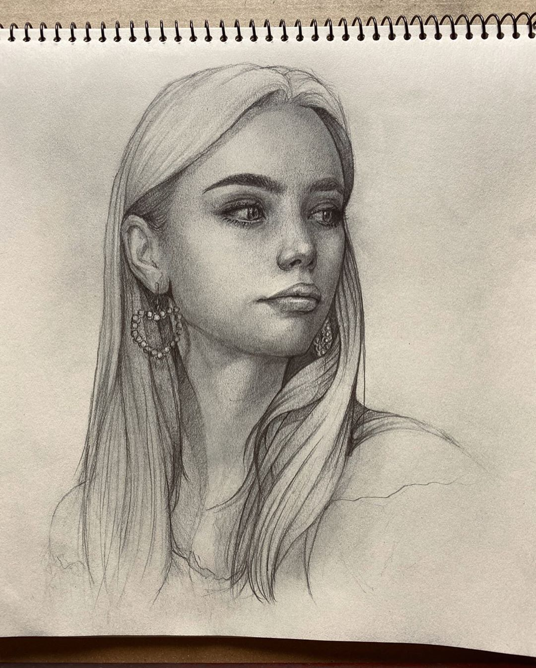 Sketch pencil portrait drawing